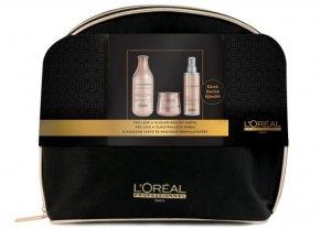 Loréal Expert Vitamino Color AOX Christmas Sada - šampon pro barvené vlasy 300ml + maska na vlasy pro ochranu barvy 250ml + multifunkční ochranný sprej na barvené vlasy 190ml + neceser