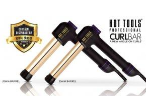 Hot Tools Curl Bar - ergonomická kulma na vlasy s 24k zlatem  + ZDARMA tepelně odolný vak na kulmu 1ks