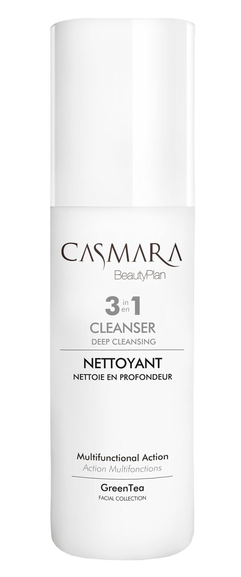 Casmara Nettoyant Cleanser Green Tea 3v1 Multifunkční odličovač 150 ml