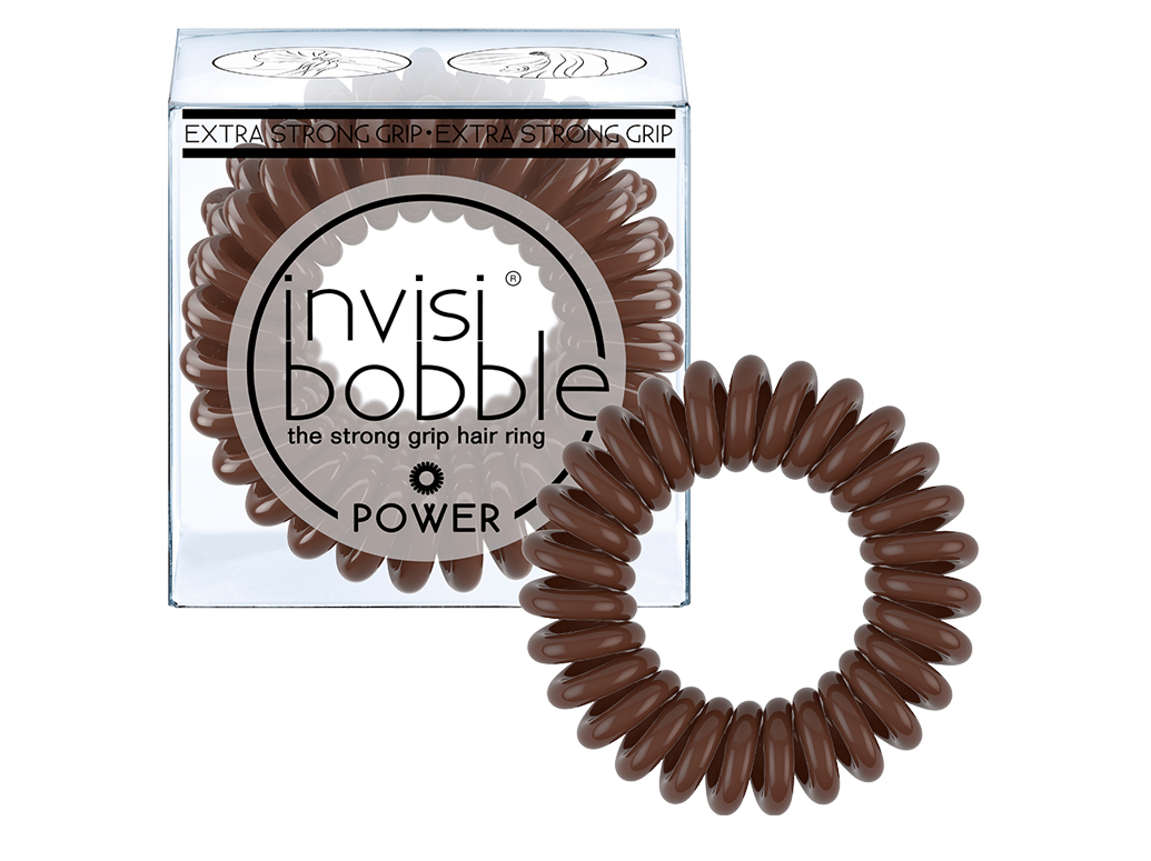Invisibobble Power Pretzel Brown - gumička do vlasů hnědá 3 ks