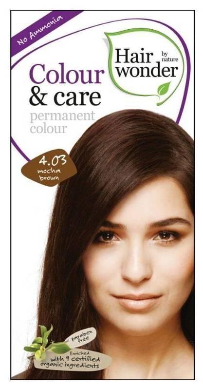 Hairwonder přírodní dlouhotrvající barva mocca hnědá 4.03 100 ml