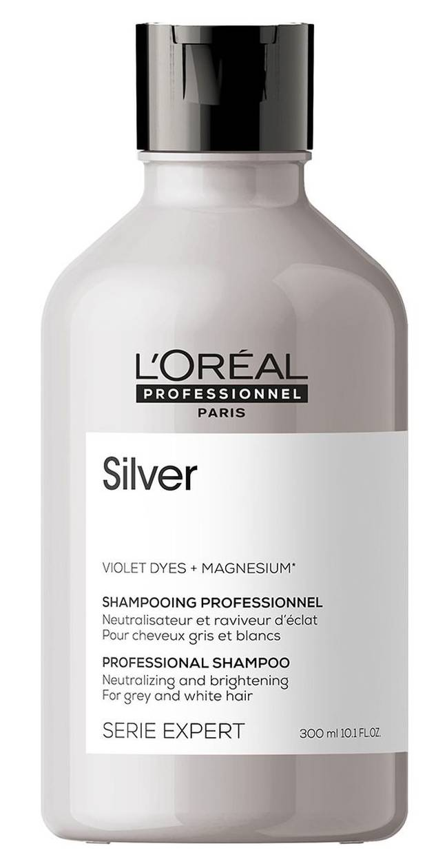 Loréal EXPERT Silver – platinový šampon pro blond a šedivé vlasy 500ml