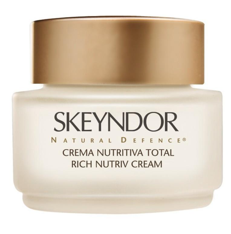 Skeyndor NATURAL DEFENCE Rich Nutriv Cream – zpevňující výživný noční krém pro suchou, zralou pleť 200ml