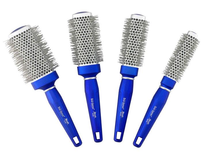 Bio Ionic BlueWave - iontový kulatý kartáč na vlasy Velikost: Střední - 33 mm