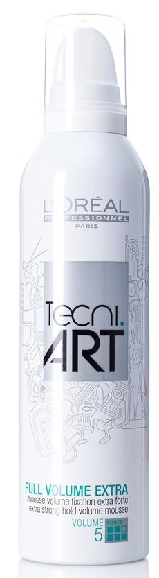 Loréal Professionnel Tecni.Art Full Volume Extra Mousse - silně fixační pěna pro objem vlasů 250ml