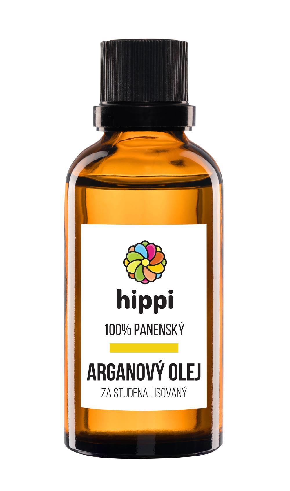 Hippi Organic - 100% panenský arganový olej na vlasy a pleť 100ml