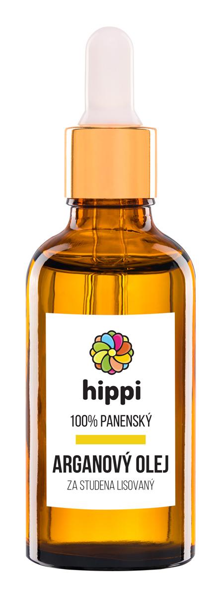 Hippi Organic - 100% panenský arganový olej na vlasy a pleť 50ml