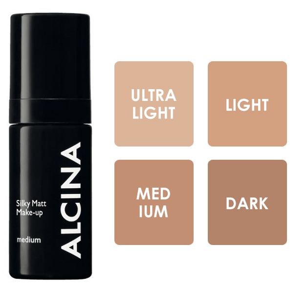 Alcina Silky Matt Make-up - matující make-up 30ml Medium