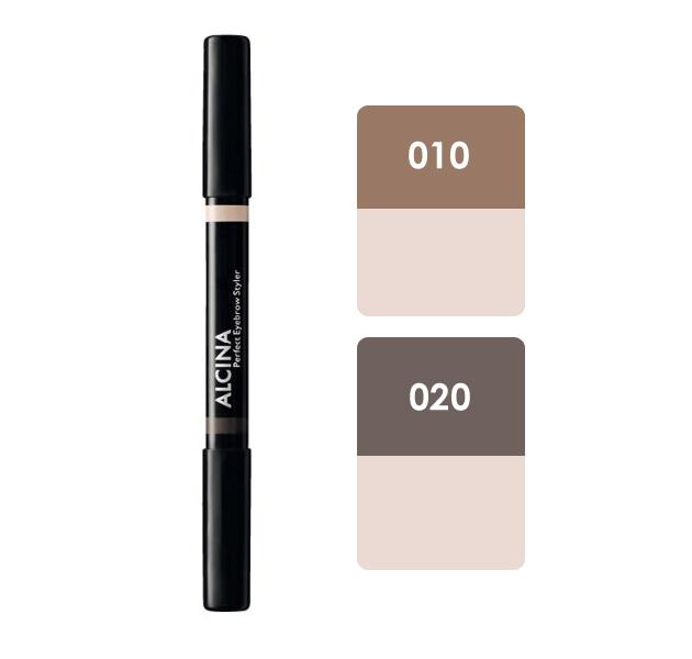 Alcina Perfect Eyebrow Styler - oboustranná tužka na obočí 1ks 010 Light