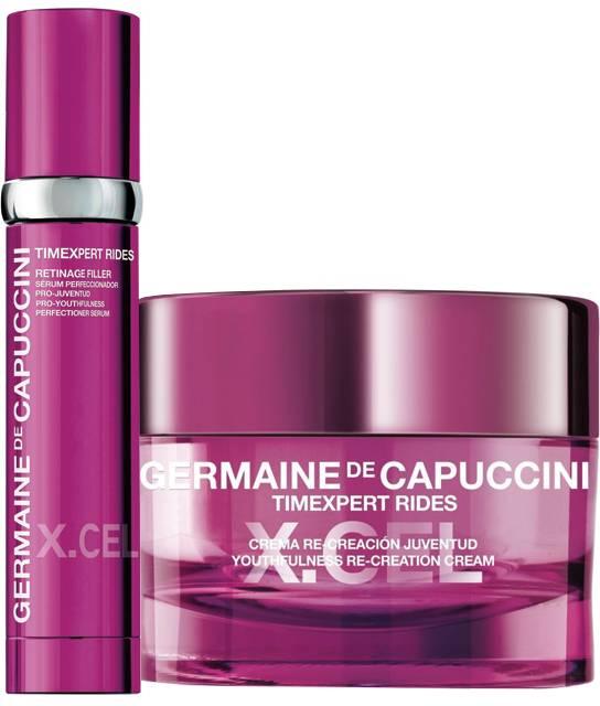 Germaine de Capuccini Timexpert Rides X.Cel Sada - krém pro korekci hlubokých vrásek 50ml + sérum pro objem a zpevnění pleti 50ml