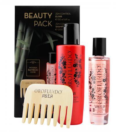 Orofluido Asia Beauty Set - vlasový olejíček s lehkou texturou 50ml + pečující šampon 200ml + bambusový hřeben