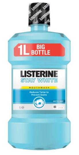 Listerine Stay White - ústní voda pro přirozeně bělejší zuby 1000ml