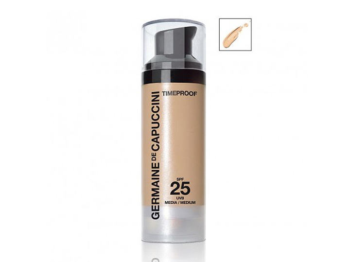 Germaine de Capuccini TIMELESS Timeproof Protective Make-up SPF25 - voděodolný make-up pro smíšenou a mastnou pleť 30ml 499 Matt Clear