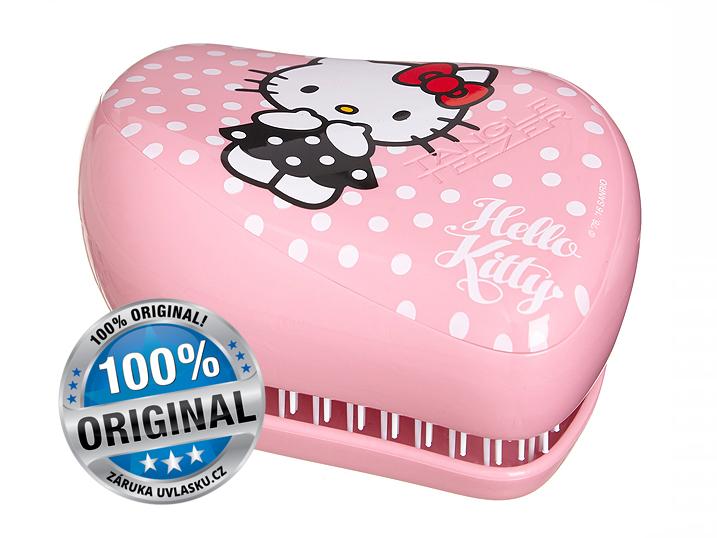 Tangle Teezer Compact Styler HELLO KITTY Pink/White - kompaktní kartáč na rozčesávání vlasů 1ks