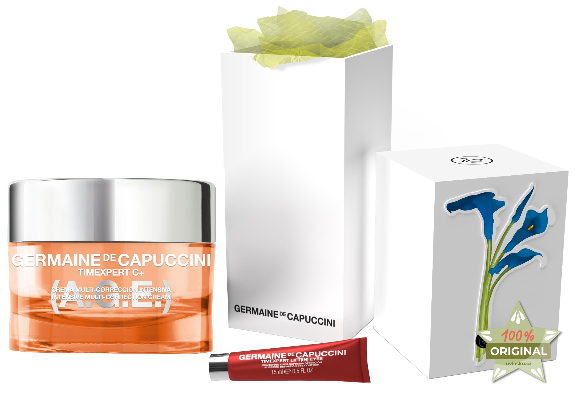 Germaine de Capuccini Timexpert C+ A.G.E. Christmas Sada - krém s vitamínem C pro normální pleť 50ml + sérum na oční okolí 15ml
