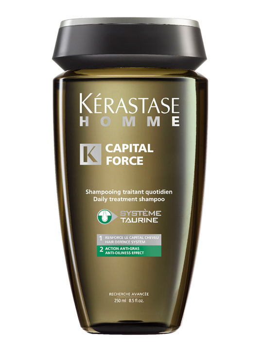 Kérastase Homme Bain Capital Force Anti-Gras Anti Oiliness Effect Shampoo 250 ml