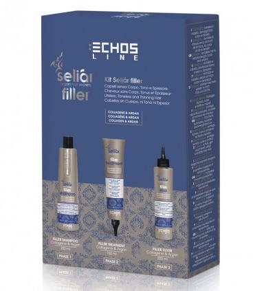 Echosline Seliár Filler šampon 350 ml + Elixír 200 ml + Ošetření 150 ml dárková sada