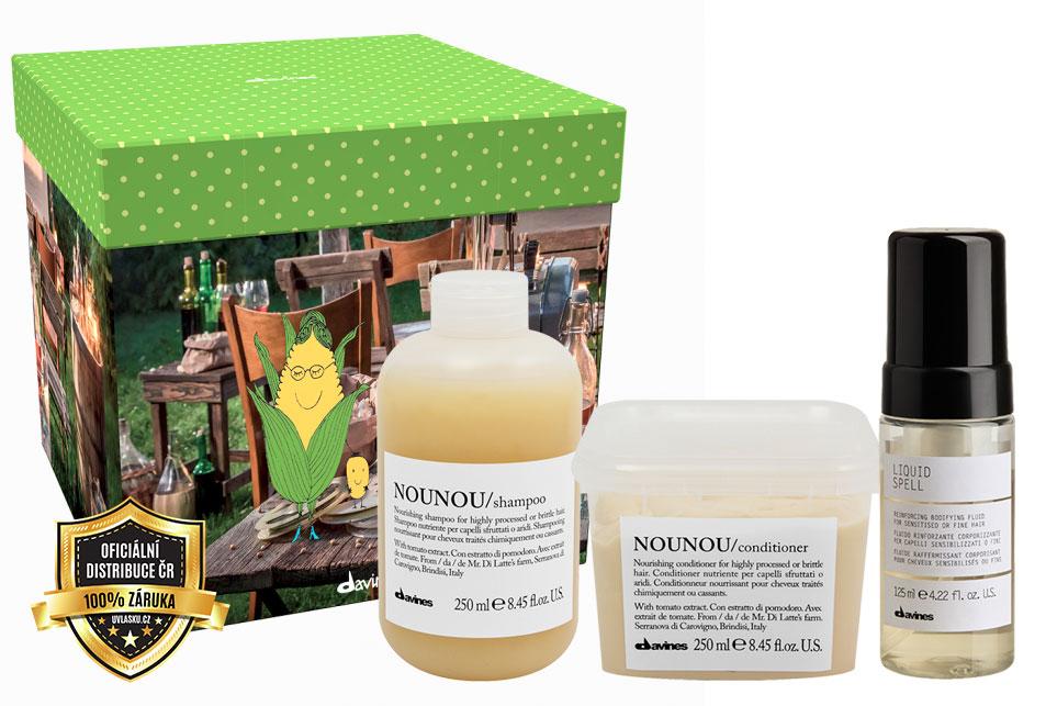 Davines Essential Nounou Sada - šampon na suché vlasy 250ml + kondicionér na suché vlasy 250ml + olej na vlasy 50ml