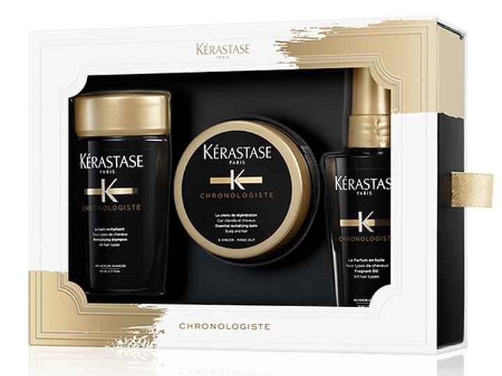 Kérastase Chronologiste Discovery revitalizační šampon 80ml + revitalizační maska 75ml + parfémovaný olej na vlasy 50ml dárková sada