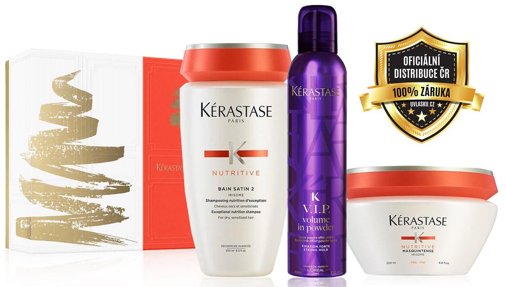 Kérastase Nutritive Hydratační šampon 250 ml + Hydratační maska 200 ml + Pudr ve spreji 250 ml Dárková sada