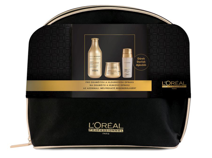 Loréal Expert Absolut Repair Lipidium - šampon 300ml + regenerační maska 250ml + dvoufázové sérum 2x15ml + neceser Dárková sada