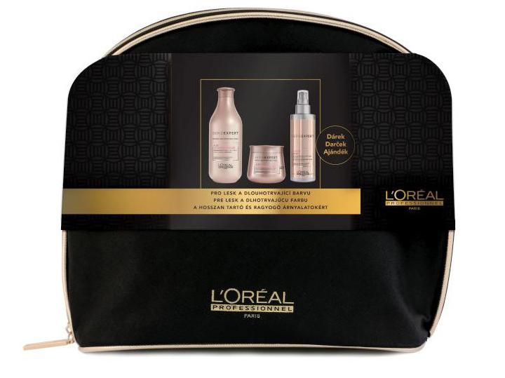 Loréal Expert Vitamino Color AOX - šampon pro barvené vlasy 300ml + maska na vlasy 250ml + ochranný sprej 190ml + neceser Dárkový sada