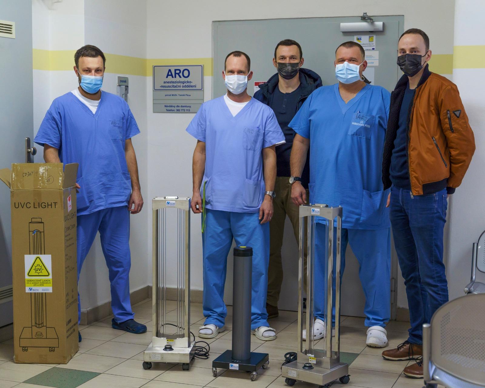 UV lampy pro píseckou nemocnici