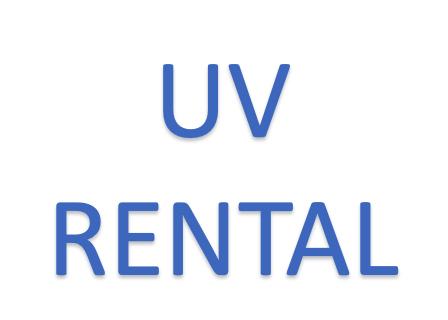 UV lampy nyní k pronájmu na omezenou dobu.