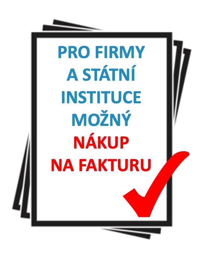Pro firmy a státní instituce možný nákup na fakturu.