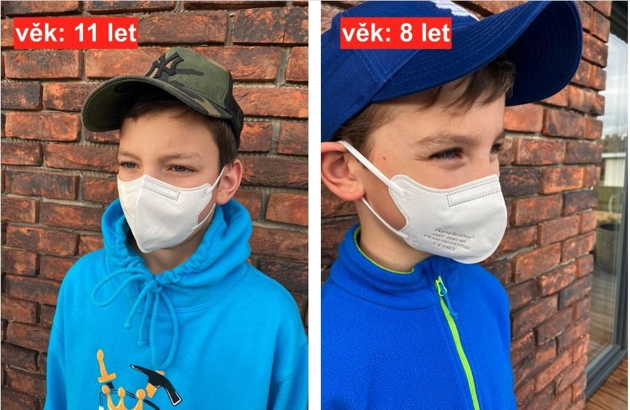 detske respiratory ffp2 deti 8 a 11 let