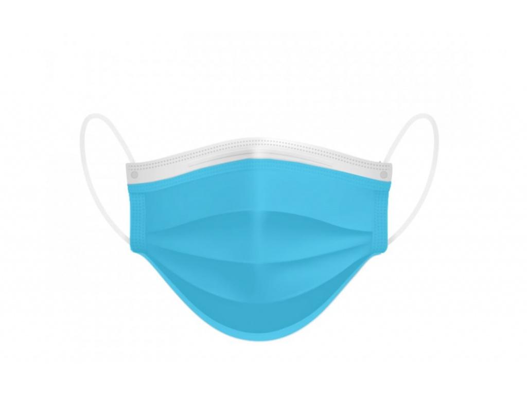 Jednorázová ústní rouška Dispomask - světle modrá 50 ks