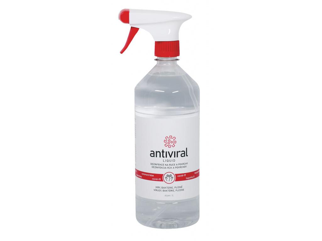Tekuta dezinfekce Antiviral 1000ml s rozprašovačem
