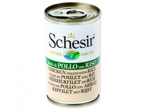 Konzerva SCHESIR Cat kuřecí + rýže-140g