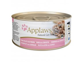 Konzerva APPLAWS Cat Tuna Fillet & Prawn-70g