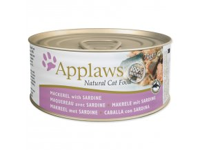 Konzerva APPLAWS Cat Mackerel & Sardine-70g