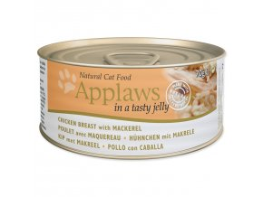 Konzerva APPLAWS Cat Jelly Chicken & Mackerel-70g