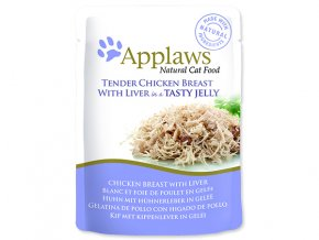 Kapsička APPLAWS Cat Pouch Chicken with Liver in Jelly-70g