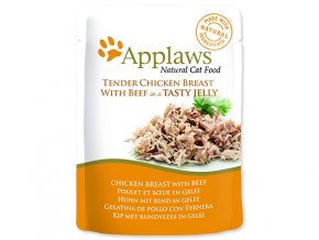 Kapsička APPLAWS Cat Pouch Chicken with Beef in Jelly-70g