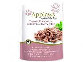Kapsička APPLAWS Cat Pouch Tuna Wholemeat with Salmon in Jelly-70g