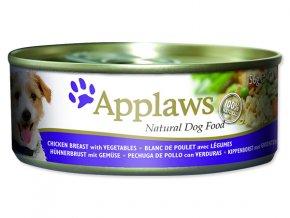Konzerva APPLAWS Dog Chicken, Vegetables & Rice-156g