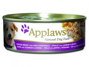 Konzerva APPLAWS Dog Chicken, Ham & Vegetables-156g
