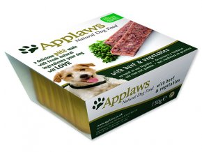 Paštika APPLAWS Dog Pate with Beef & Vegetables-150g