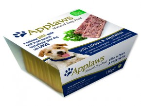 Paštika APPLAWS Dog Pate with Salmon & Vegetables-150g