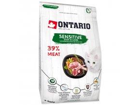 ONTARIO Cat Sensitive / Derma-0,4kg