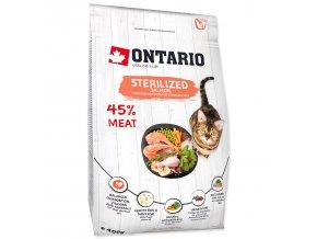 ONTARIO Cat Sterilised Salmon-0,4kg
