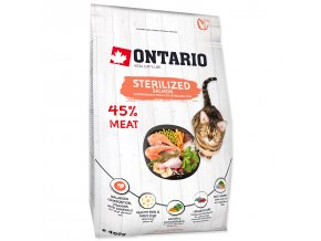 ONTARIO Cat Sterilised Salmon-0,4kg