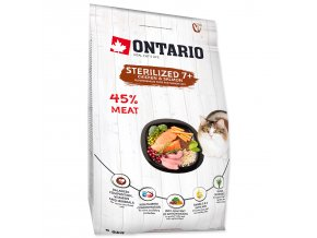 ONTARIO Cat Sterilised 7+-2kg