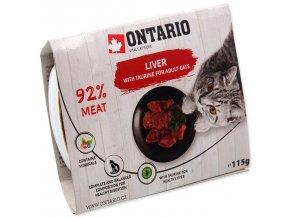 Vanička ONTARIO Cat Liver with Taurine-115g