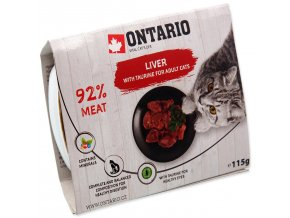 Vanička ONTARIO Cat Liver with Taurine-115g