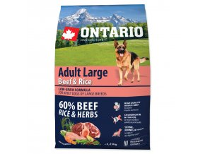 ONTARIO Dog Adult Large Beef & Rice-2,25kg